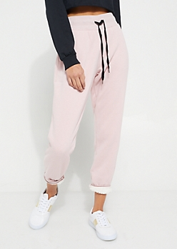 Pink Sherpa Lined Jogger