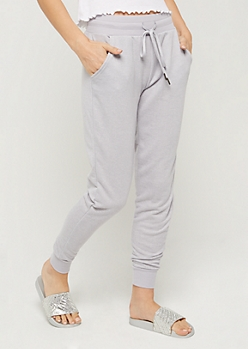 Heather Gray Marled Knit Jogger
