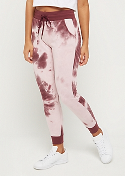 Purple Tie Dye Knit Jogger