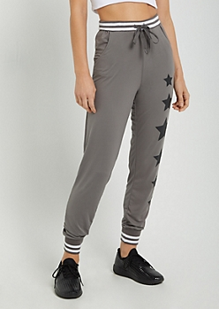 Starry Varsity Striped Soft Brushed Jogger