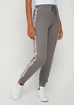 Pink Aztec Striped Jogger