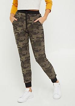 Green Camo Soft Brushed Jogger