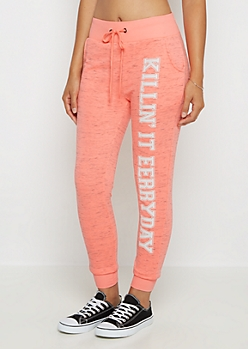 Killin It Eerryday Marled Jogger