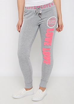 Heather Gray Addicted to Love Jogger