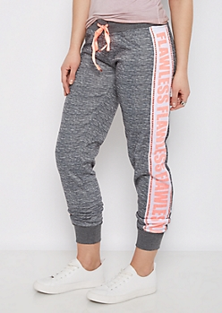 Neon Coral Flawless Love Space Dyed Jogger