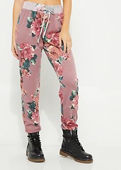 Pink Floral Jogger