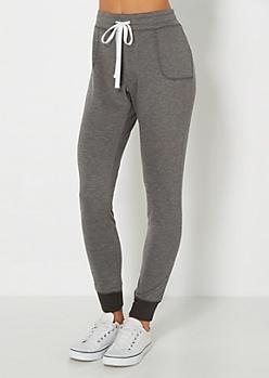 Charcoal Gray Slim Jogger