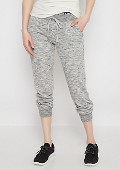 Gray Love Layered Space Dye Jogger