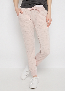 Pink Love Layered Space Dye Jogger