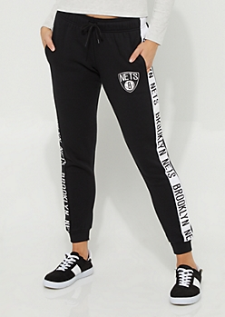 Brooklyn Nets Logo Stripe Joggers