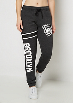 Brooklyn Nets Striped Leg Fleece Jogger