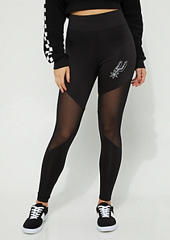 San Antonio Spurs Mesh Knee Leggings