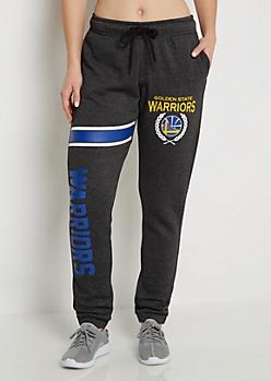Golden State Warriors Striped Leg Fleece Jogger