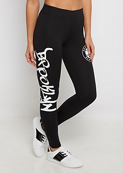 Brooklyn Nets Graffiti Legging