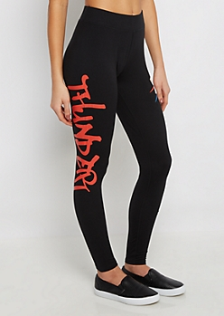 Oklahoma City Thunder Graffiti Legging