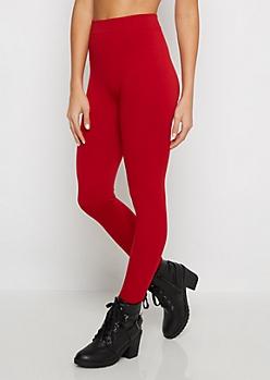 Red Fleece Lined Legging