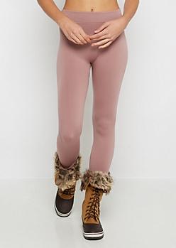 Pink Fleece Lined Legging