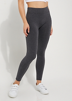 Charcoal Gray Fleece Slimming Legging