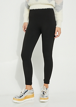Black Faux Fur Lined Legging