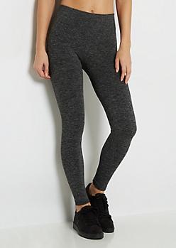 Charcoal Gray Fleece Lined Legging