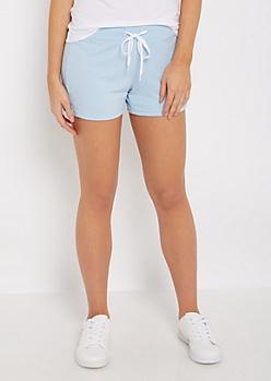 Heather Blue Knit Short