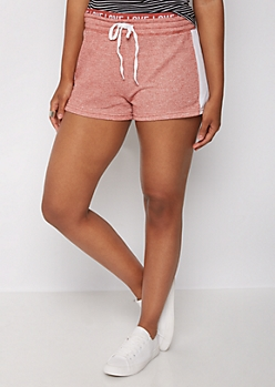 Pink Marled Love Layered Short
