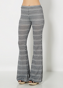 Retro Chevron Knit Flare Pant