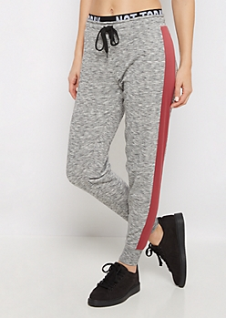 Not Today Layered Space Dye Sweatpant