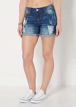 Ripped & Scratched Jean Short