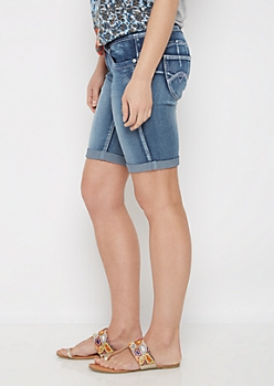 Dark Blue Better Butt Cuffed Jean Bemuda Short