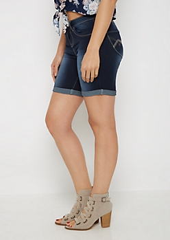 Dark Better Butt Bermuda Jean Short