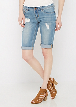 Medium Distressed Jean Bermuda Short