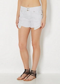 Distressed High Waist Short in Curvy