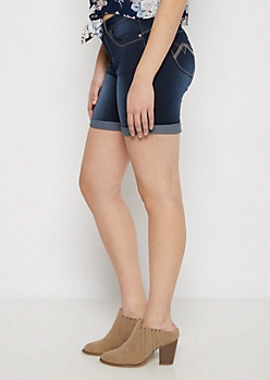 Dark Better Butt Bermuda Jean Short in Curvy