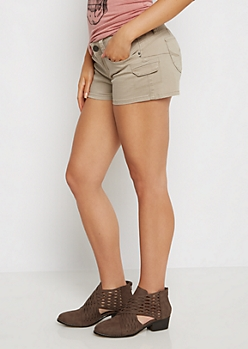 Khaki Better Butt Cargo Shortie