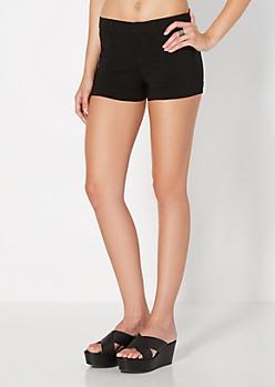 Black Twill Short