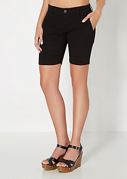Black Bermuda Short