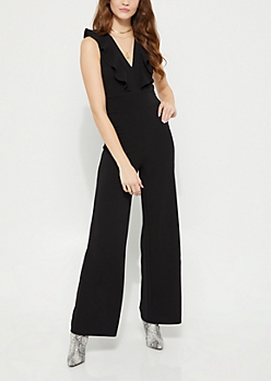 Ruffled Wide Leg Jumpsuit
