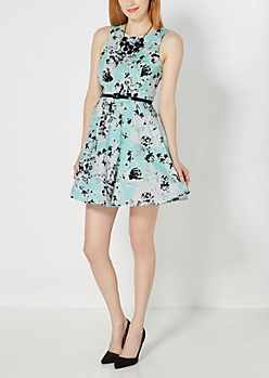 Floral Belted Sun Dress