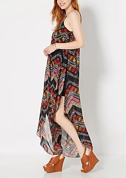 Collared Tribal Flyaway Dress