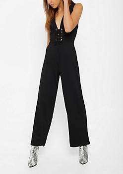 Black Corset Jumpsuit