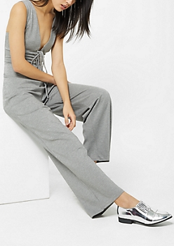 Heather Gray Corset Jumpsuit