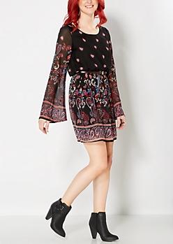 Black Boho Bazaar Dress