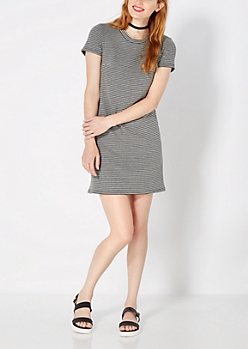Striped Ottoman Shift Dress