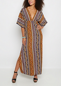 Retro Folklore Maxi Dress
