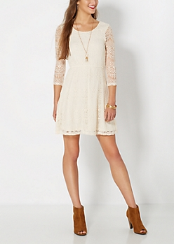 Ivory Lace Promenade Dress