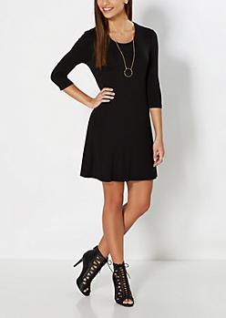 Black Knit Tent Dress