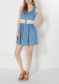 Crochet Illusion Jean Dress