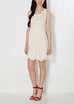 Ivory Lace Sundress