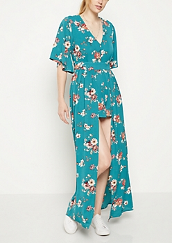 Wildflower V Neck Maxi Romper